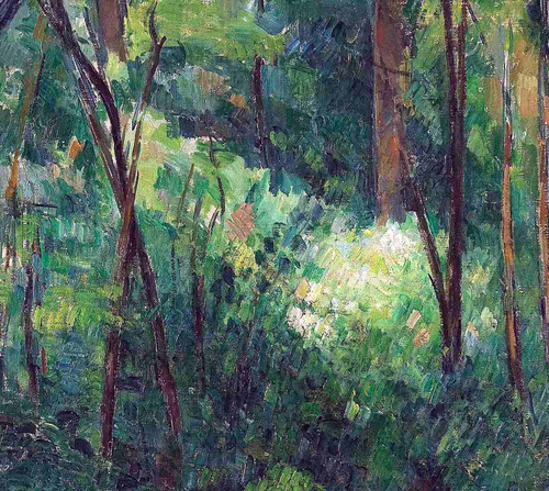 lienzo tela interior del bosque paul cezanne 50 x 60 cm arte