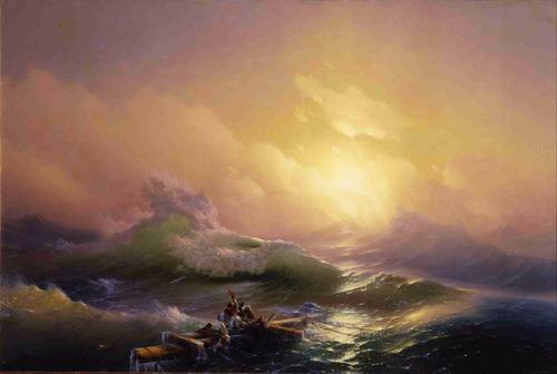lienzo tela la novena ola hovhannes aivazovsky 50 x 75 cm