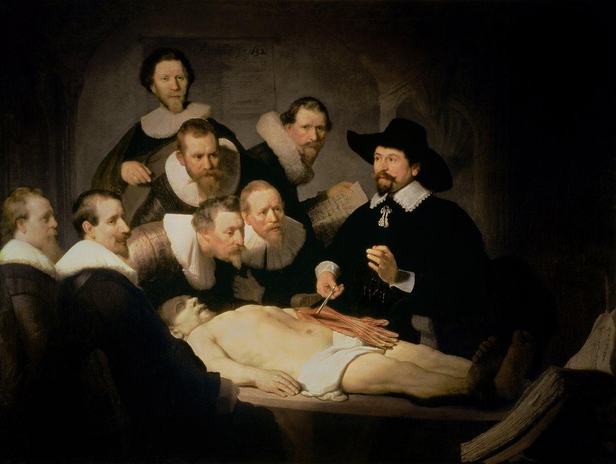 Lienzo Tela Lecciones De Anatomía Rembrandt - $ 1,050.00 en Mercado ...