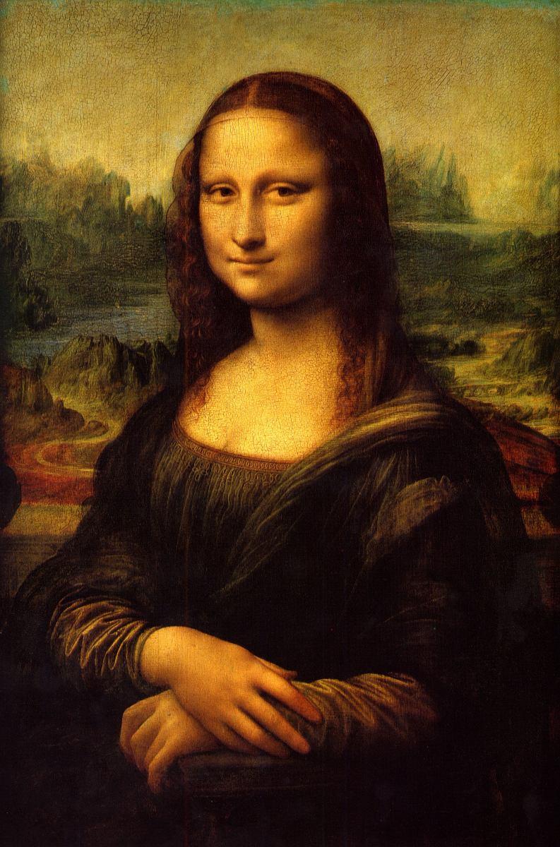 Lienzo Tela Leonardo Da Vinci La Mona Lisa 65 X 100 Cm  # La Gioconda Muebles
