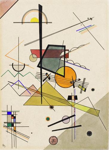 lienzo tela, melodious, w. kandinsky, 74x100cm