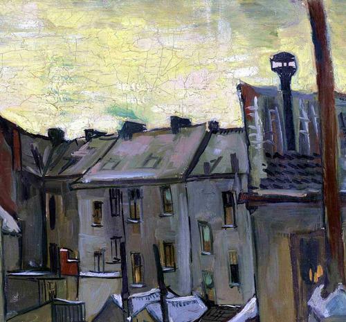 lienzo tela parte posterior casas vincent van gogh 50 x 65cm