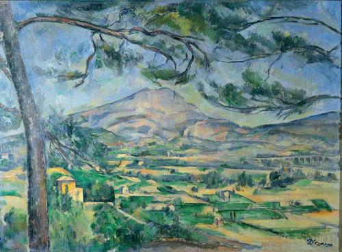 lienzo tela pintor paul cezanne mont sainte victoire 1885