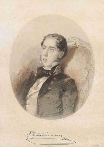 lienzo tela retrato maximiliano i de méxico 1855 70 x 50 cm