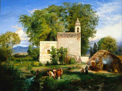lienzo tela romita de san cristóbal luis coto 60 x 80 cm