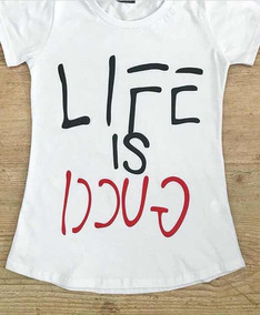 188a1248417 T Shirts Gucci - Camisetas e Blusas Manga Curta para Feminino no ...
