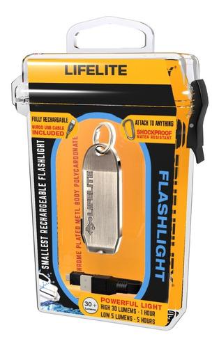 life lite - llavero led, 30 lumens, recargable, true utility