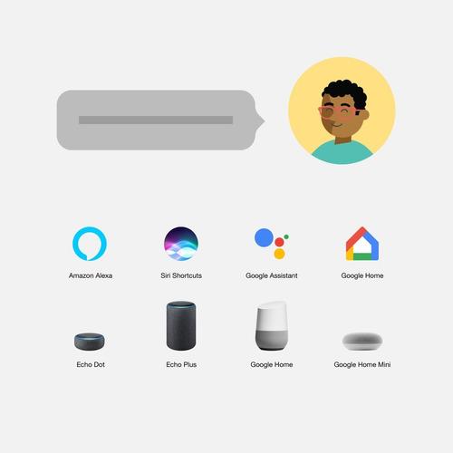 lifesmart bombilla led domotica app amazon alexa google siri