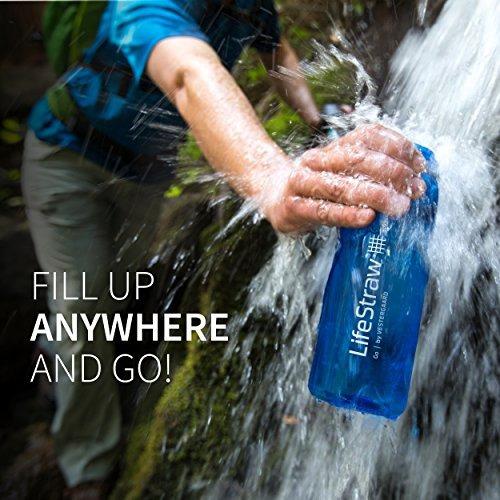 lifestraw go botella de filtro de agua con 2 etapas de filtr
