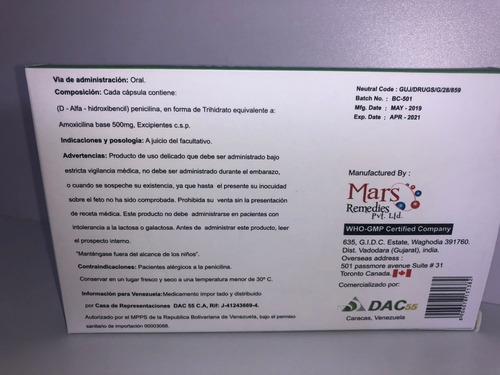 liga de freno amoxicilina 500 mg para corsa