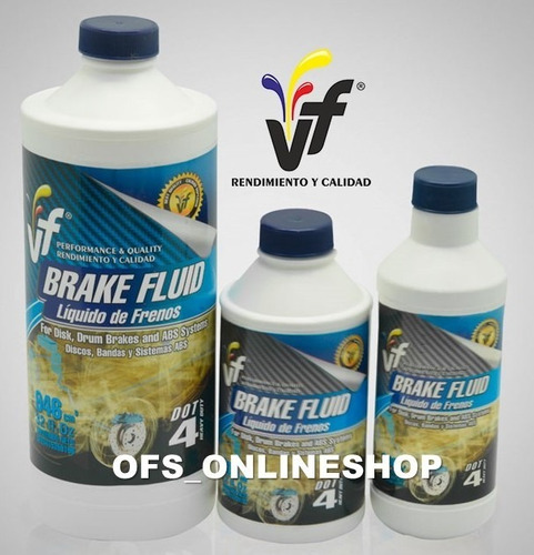 liga de freno vf dot 4 brake fluid 290 cc caja de 12