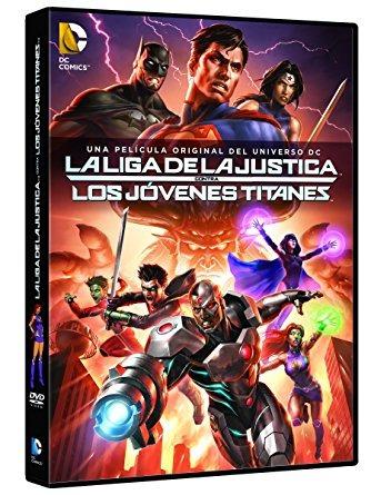 liga de la justicia jovenes titanes pelicula dvd