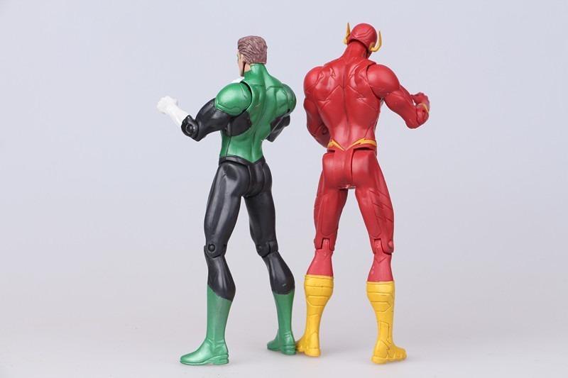 Superheroes Batman Green Lantern Flash Superman Wonder Woman PVC Figure 17cm