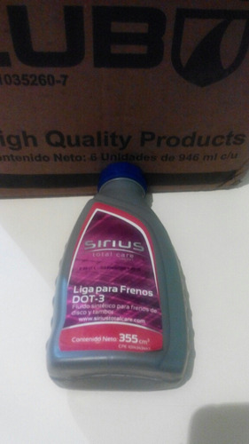 liga para frenos dot 3 355ml