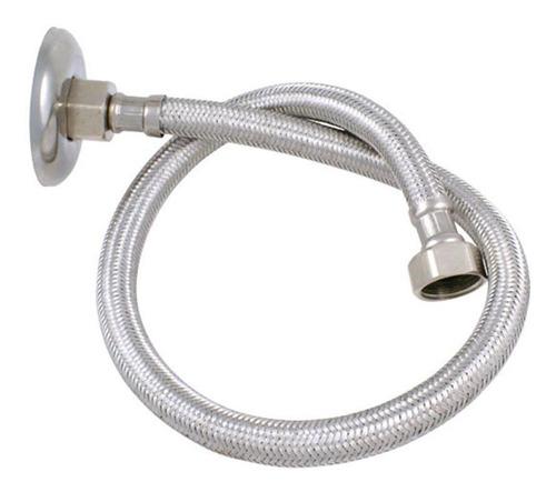 ligação flexível trançado aço inox cromado 60 cm forusi