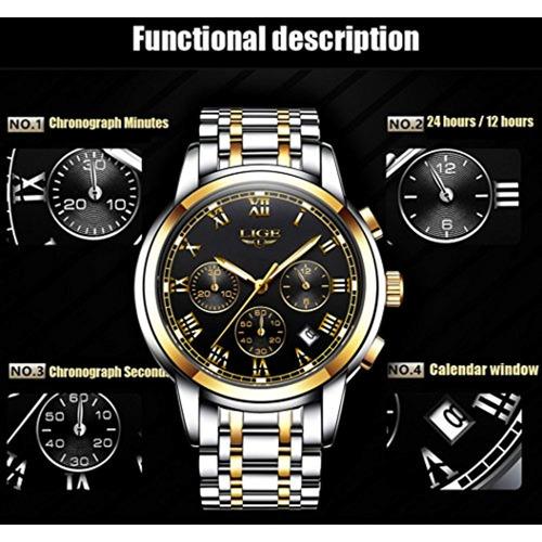 lige reloj de cuarzo analógico para hombre