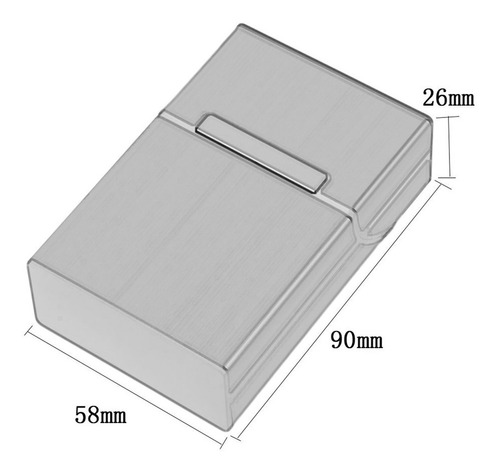 light aluminum cigarette cigar case pocket box container sto