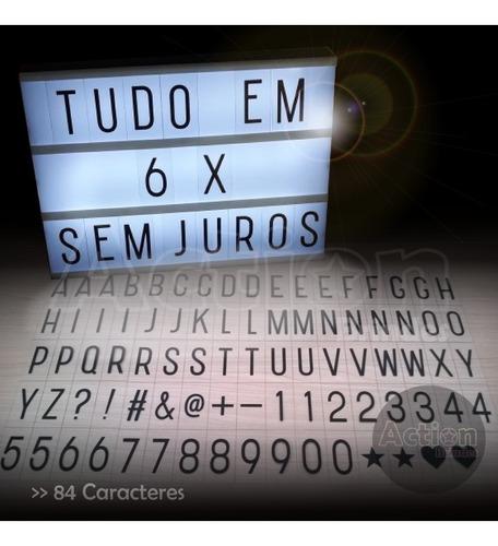 lightbox luminária cinema caixa luz de led 84 slides usb