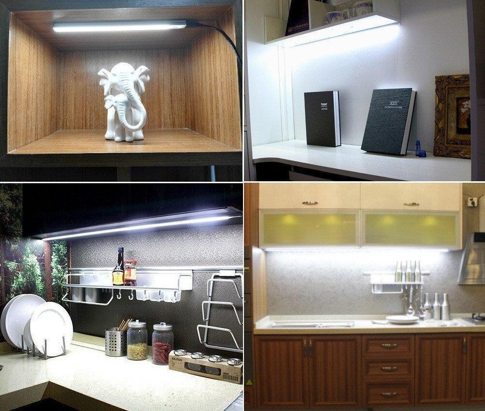 Bonito Bajo Iluminación Del Gabinete De Cocina Enchufar Viñeta ...