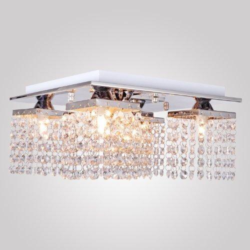 lightinthebox lámpara de techo de cristal con 5 luces de cr