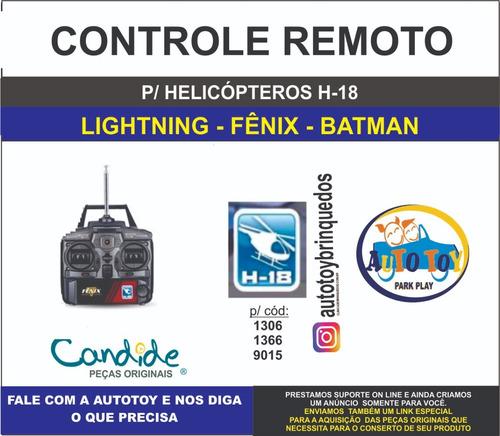 lightning 1366 e fênix 1306 - h-18  - controle remoto