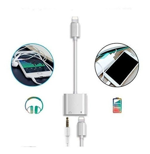 lightning headphone jack adapter para7 plus iphone8/8plus/x/