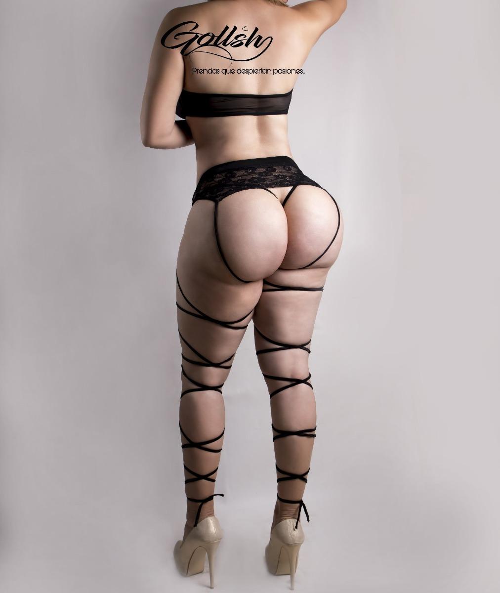 7afb71ca94b8 Liguero Incluye La Tanga Y Top Negro Lenceria Sexy Mujer - $ 599.00 ...