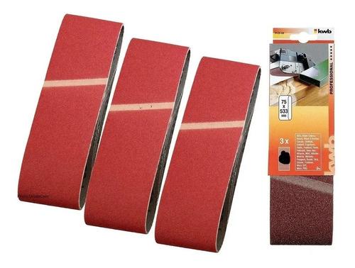 lija de banda 75 o 76 x 533 para madera lijadora set x 3pz