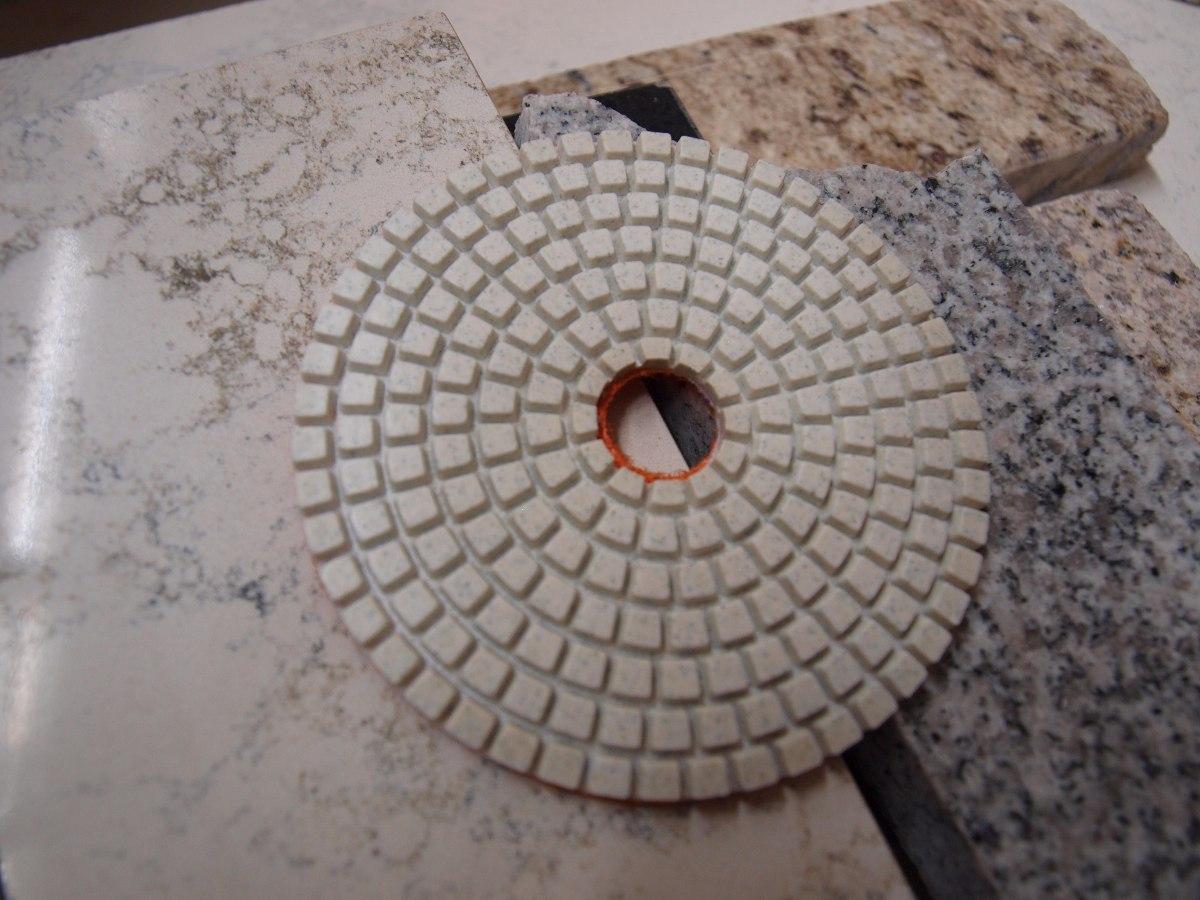Lija diamantada 4 humedo o seco pad pulir granito marmol for Como pulir marmol