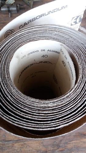 lija grano 40  (9 pulgadas) por metro