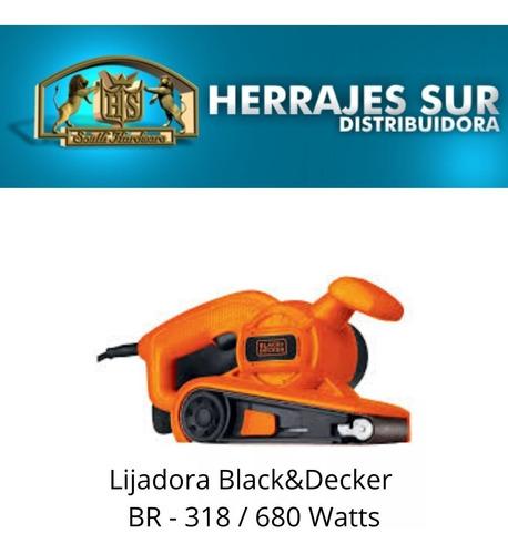lijadora banda black decker br318 con bolsa - 680 watts