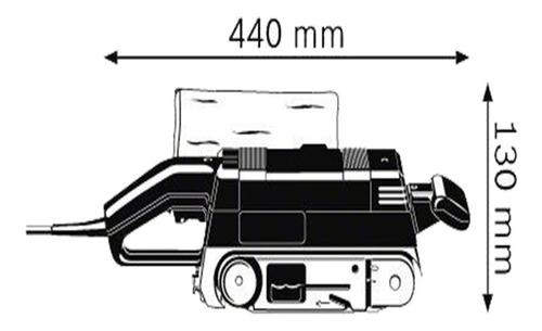 lijadora de banda bosch gbs 75 ae 533 x 75 mm. 750 w