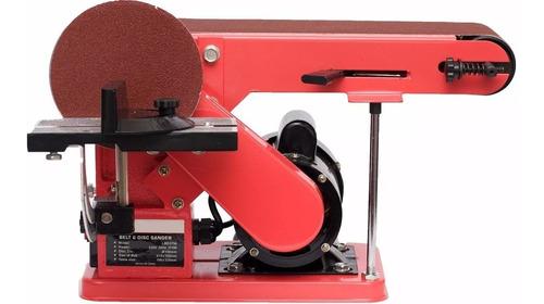 lijadora de banda y disco combinada de banco kld 375w.