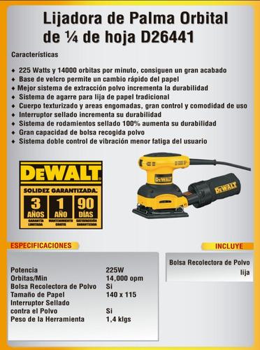 lijadora de palma 1 1/4 dewalt d26441 nuevo
