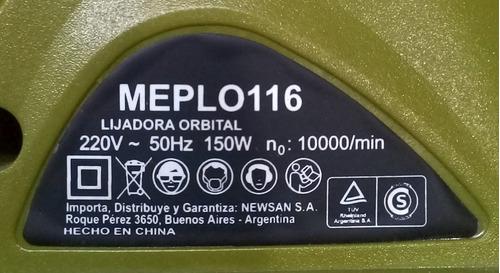 lijadora orbital 150w philco - liquidación