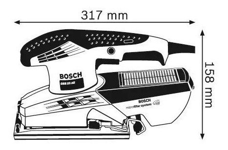 lijadora orbital bosch gss 23ae 190 w con filtro