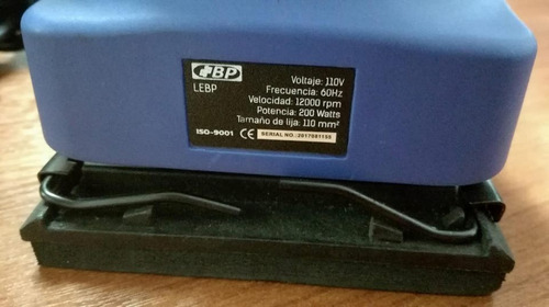 lijadora orbital de 200w 12000 rpm marca bp