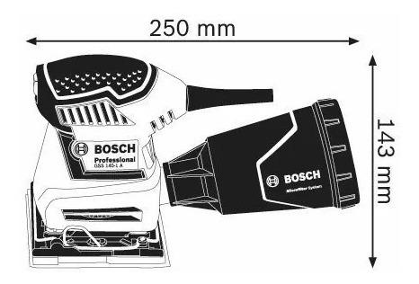 lijadora orbital de palma bosch gss 140-1a 180w gss 140 1 a