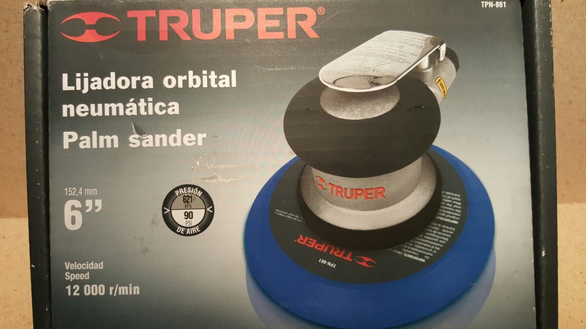 Lijadora orbital hookit velocidad 12000 r mn marca truper - Lijadora orbital precio ...