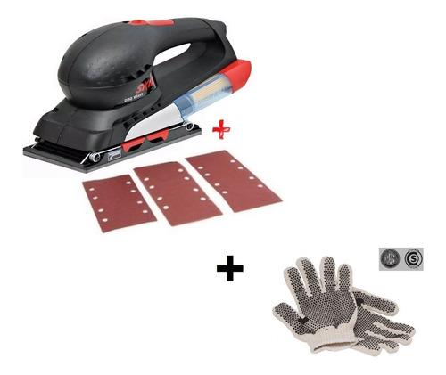 lijadora orbital skil 7351 recolector 200w + guantes