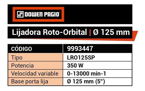 lijadora rotoorbital dowen pagio ø 125 mm 350w 9993447