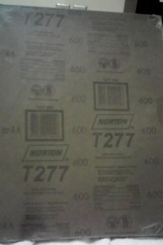 lijas de agua para hierro marca norton grano 360 y 600.