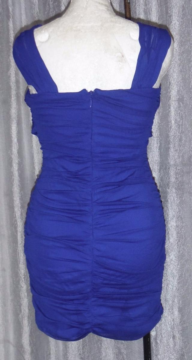 Lilasori Vestido Coctel Importado Color Azul Talla 7 Strech ...