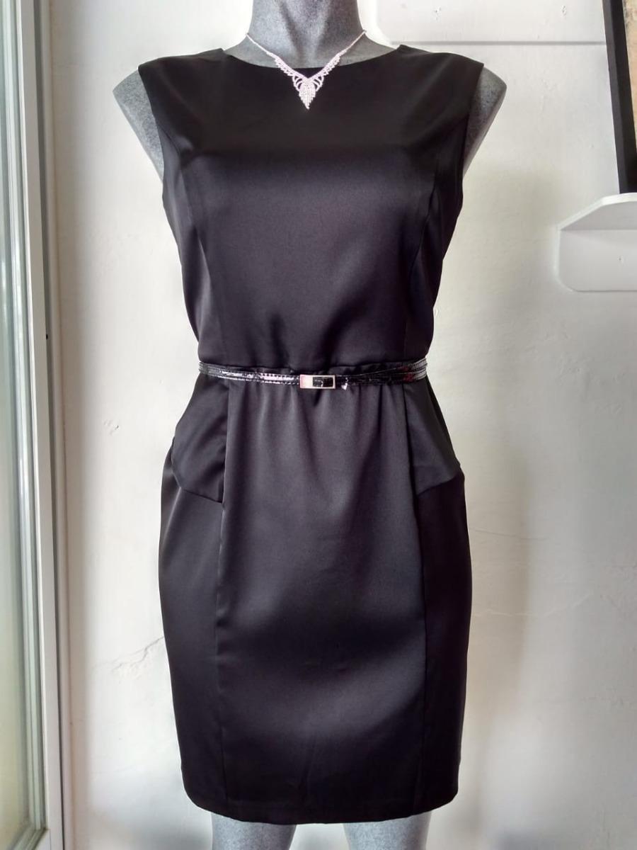 Lilasori Vestido Coctel Importado Peplum Negro Dressbarn T13 ...