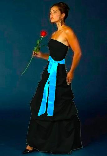 lilasori vestido de fiesta importado talla s color negro