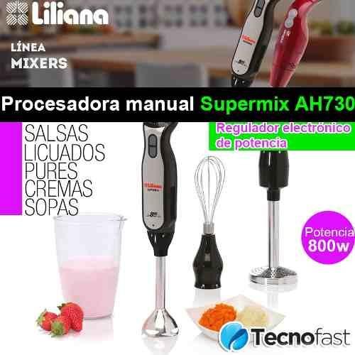 liliana ah730 minipimer licuadora procesadora mano inox 800w