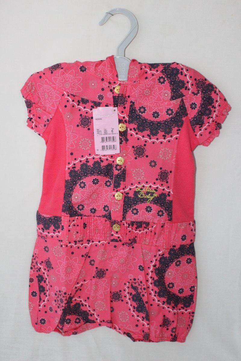 c83e3ec92 Lilica Ripilica Baby Original Rosa Macacão - R$ 60,00 em Mercado Livre