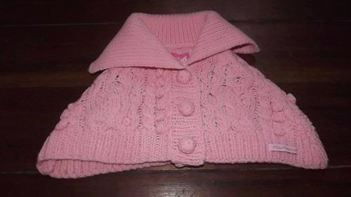 lilica ripilica - poncho casaco de frio de tricot tam p e g