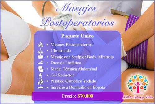 lilith masajes postoperatorios, post operatorios a domicilio