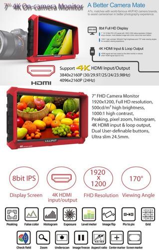 lilliput a7s 7 7  ips 4k assist monitor para camara